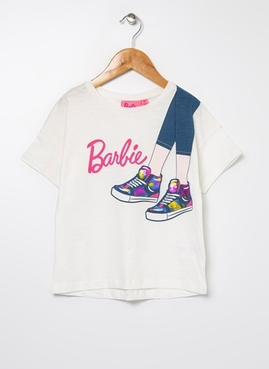 Barbie Bisiklet Yaka Tişört Ekru